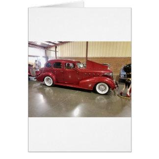 Cartão Carro do clássico do vintage