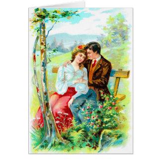 Cartão Carro do cumprimento do aniversário do Victorian