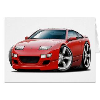 Cartão Carro do vermelho de Nissan 300ZX