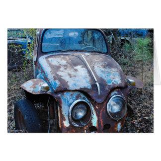 Cartão Carro oxidado velho, humor