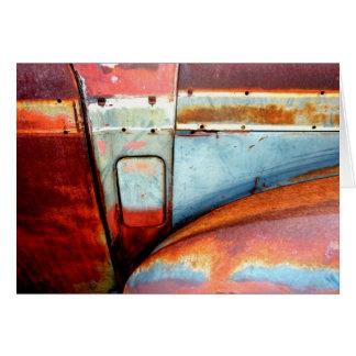 Cartão Carro velho oxidado