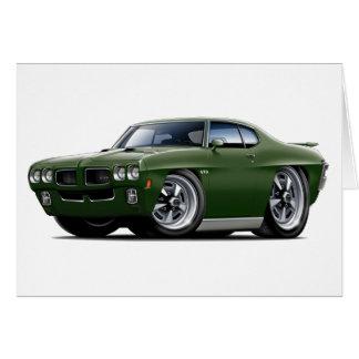 Cartão Carro verde escuro de 1970 GTO