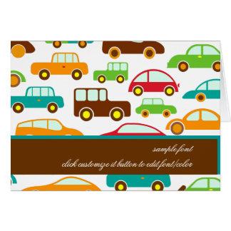 Cartão Carros de PixDezines+fundo de