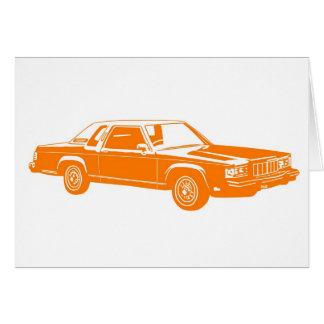 Cartão carros do americano dos anos 80
