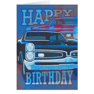 Cartão Carros do feliz aniversario GTO