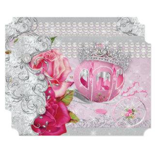Cartão Carruagem de Anos Bling do marmelo da princesa
