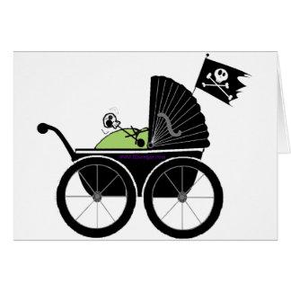 Cartão carruagem de bebê