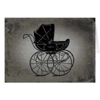 Cartão Carruagem de bebê gótico