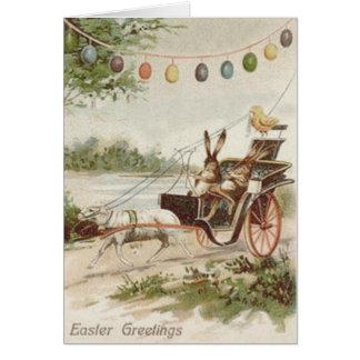 Cartão Carruagem do cordeiro do ovo do pintinho do