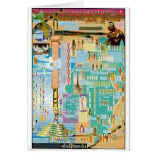 Cartão Carta bíblica da árvore genealógica