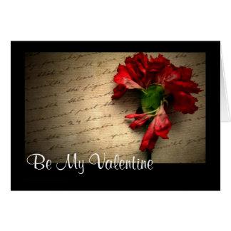 Cartão Carta de amor - personalizada