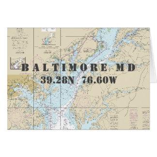 Cartão Carta de navegação náutica do Chesapeake da DM de