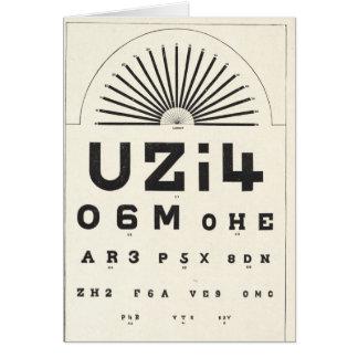 Cartão Carta de olho do vintage