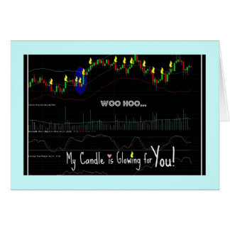 Cartão Carta do castiçal do mercado de valores de acção,
