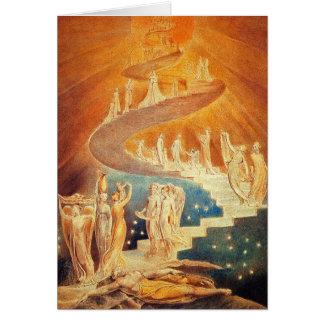 Cartão Cartão:  A escada de Jacob - William Blake