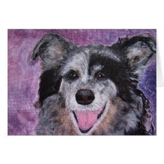 Cartão Cartão, acrílico da arte do cão de border collie