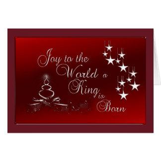 Cartão Cartão/alegria do Natal ao mundo