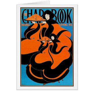 Cartão Cartão:  Arte Nouveau - Bradley - acção de graças