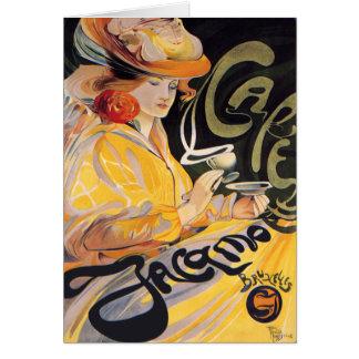 Cartão Cartão:  Arte Nouveau Café