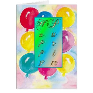 Cartão Cartão-Balões de Purim
