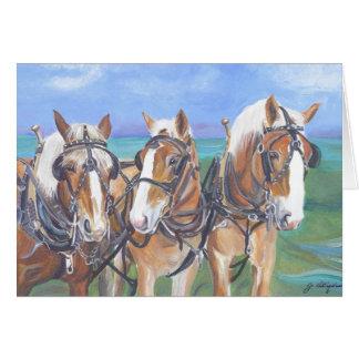 """Cartão """"Cartão belga dos cavalos """""""