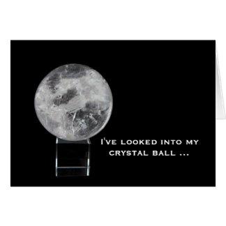 Cartão Cartão: Bola de cristal