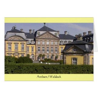 Cartão Cartão: Castelo de Arolsen/Waldeck