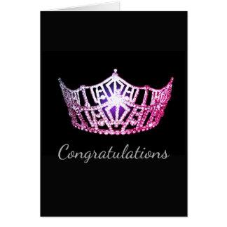 Cartão Cartão-Congrats cor-de-rosa do cumprimento da