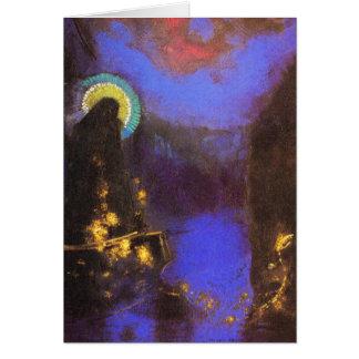 Cartão Cartão/convite: Virgem Maria com a corona por