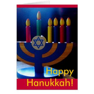 Cartão Cartão-Cores de Hanukkah Menorah