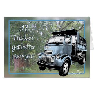 Cartão Cartão-csutomize velho dos camionistas
