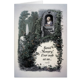"""Cartão """"Cartão da arte do Victorian da memória doce"""" de"""