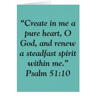 """Cartão """"Cartão da escritura de um coração puro"""""""