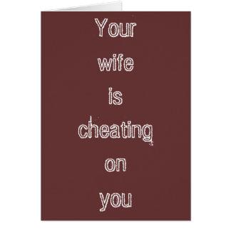 """Cartão """"Cartão da esposa de engano"""""""
