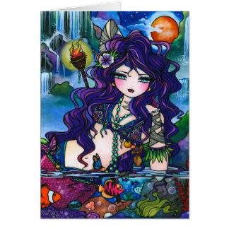 """Cartão """"Cartão da fada da sereia dos tesouros escondidos"""""""