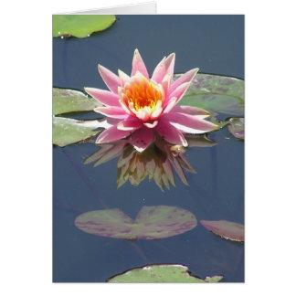 """Cartão """"Cartão da flor cor-de-rosa de Lotus"""""""