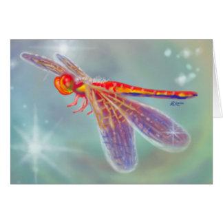 """Cartão """"Cartão da libélula de incandescência"""""""