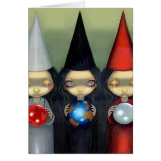 """Cartão """"Cartão das bruxas planetárias"""""""