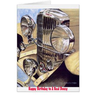 """Cartão """"Cartão de aniversário de um Doozy real"""""""