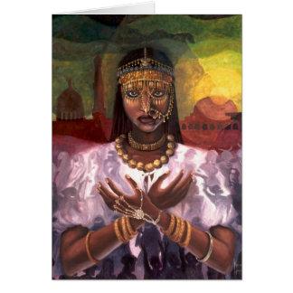 """Cartão """"Cartão de Kwanzaa da majestade africana"""""""