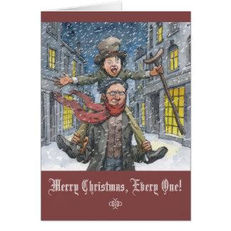 """Cartão """"Cartão de Natal de Tim minúsculo"""""""