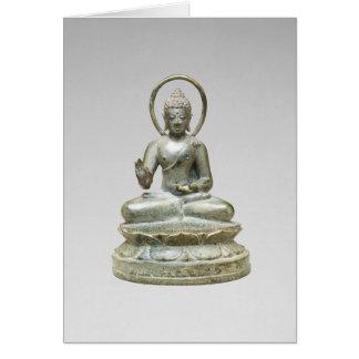 """Cartão """"Cartão de nota de Buddha transcendente assentado"""""""