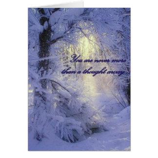 Cartão - cartão de nota vazio do Natal