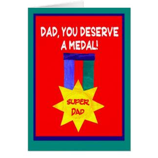 """Cartão """"Cartão do dia dos pais do pai super"""""""