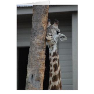 """Cartão """"Cartão do girafa tímido"""""""