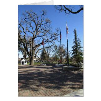 Cartão Cartão:  Entrada ao parque do centro da cidade de