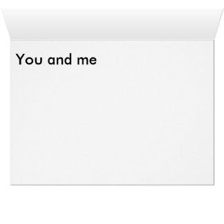Cartão Cartão, envelopes brancos padrão incluídos