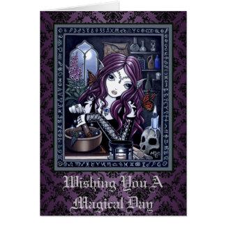 """Cartão """"Cartão feericamente mágico gótico da arte do"""