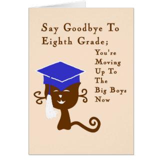 Cartão Cartão, graduação oitavo grau com gato legal