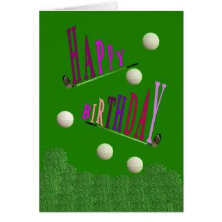 Cartão Cartão/Invitati do feliz aniversario do golfe do